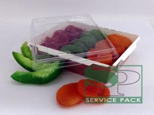 Эко-лоток из крафт-картона для пищевых продуктов